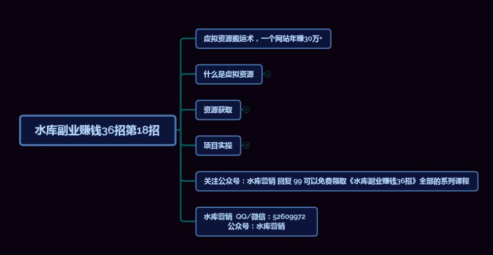 水库副业赚钱36招第18招:虚拟资源搬运术,一个网站全自动化年赚30万+